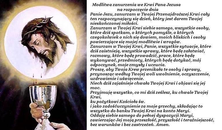 Znalezione obrazy dla zapytania krew jezusa