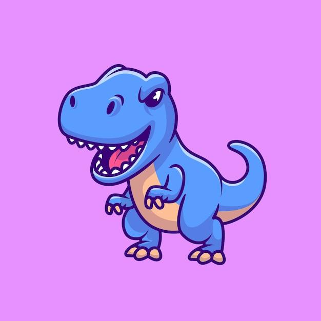 Śliczny niebieski tyranozaur rex Darmowych Wektorów