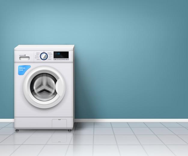 Nowoczesna pralka wpustej pralni Darmowych Wektorów